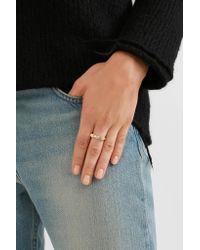 Pamela Love - Metallic Chevron Reveal Gold Opal Ring - Lyst
