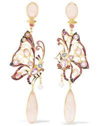 Percossi Papi | Metallic Gold-plated Multi-stone Earrings | Lyst