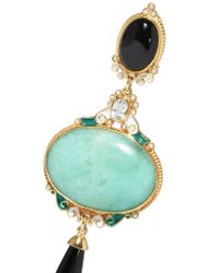 Percossi Papi - Blue Gold-plated Multi-stone Earrings - Lyst