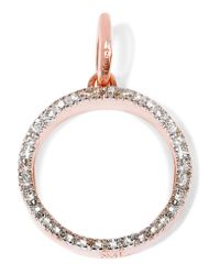 Monica Vinader | Multicolor Naida Circle Rose Gold Vermeil Diamond Pendant | Lyst