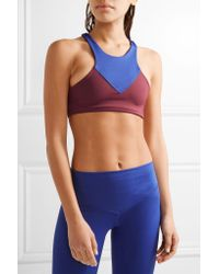 Olympia - Blue Lyon Two-tone Stretch-jersey Sports Bra - Lyst