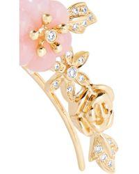 Yvonne Léon | Metallic 18-karat Gold, Diamond And Opal Earring | Lyst