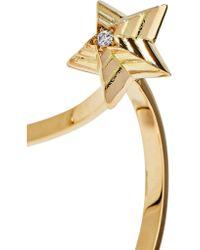 Delfina Delettrez - Metallic 18-karat Gold, Diamond And Pearl Earring - Lyst