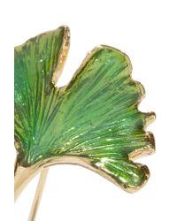 Aurelie Bidermann - Green Tangerine Gold-plated Enamel Earrings - Lyst
