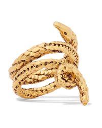 Aurelie Bidermann | Metallic Asclepios Gold-plated Ring | Lyst
