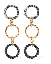 Erickson Beamon | Metallic Wild Thing Gold-plated Swarovski Crystal Earrings | Lyst