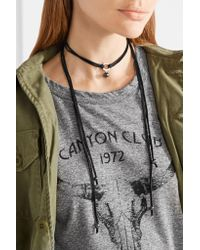 Chan Luu - Multicolor Leather, Silver-tone And Pearl Choker - Lyst