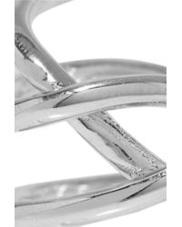 Jennifer Fisher - Metallic Small Abstract Line Silver-plated Ring - Lyst