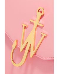 J.W.Anderson   Pink Logo Leather Shoulder Bag   Lyst
