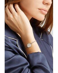 Carolina Bucci - Metallic Taurus Lucky Zodiac 18-karat White Gold, Diamond, Mother-of-pearl And Silk Bracelet - Lyst