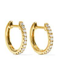 Anita Ko | Metallic Huggy 18-karat Gold Diamond Earrings | Lyst