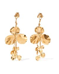 Balenciaga - Metallic Gold-tone Earrings - Lyst