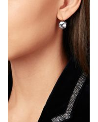 Fred Leighton - Metallic Collection 18-karat Gold, Silver-plated And Topaz Earrings - Lyst