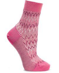 Missoni | Pink Metallic Crochet-knit Cotton-blend Socks | Lyst