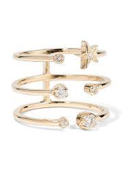 Andrea Fohrman - Metallic Triple Star 18-karat Gold Diamond Ring - Lyst