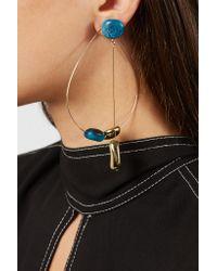 Dinosaur Designs - Metallic Mineral Hoop Gold-filled Resin Earring - Lyst