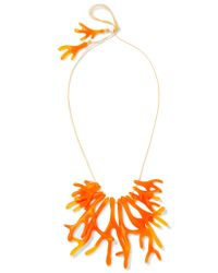 Dinosaur Designs | Orange Coral Fan Resin Necklace | Lyst