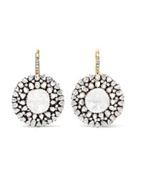 Amrapali | Metallic 18-karat Gold, Silver And Diamond Earrings | Lyst