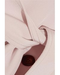 Gabriela Hearst - Pink Cabot Oversized Silk-charmeuse Trench Coat - Lyst