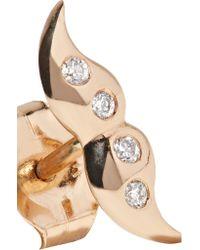 Alison Lou - Metallic Hasbro Mini Mustache 14-karat Gold Diamond Earring - Lyst