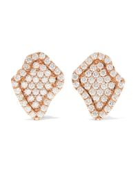 Kimberly Mcdonald | Metallic 18-karat Rose Gold Diamond Earrings | Lyst