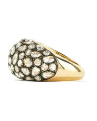 Fred Leighton - Metallic Collection 18-karat Gold, Silver And Diamond Ring - Lyst