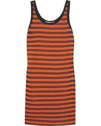 Givenchy | Orange Striped Stretch-silk Mini Dress | Lyst