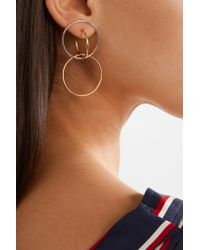 Charlotte Chesnais - Metallic Galilea Gold-dipped And Silver Hoop Earrings - Lyst