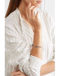 Jennifer Fisher - Metallic Small Double Knot Silver-plated Cuff - Lyst