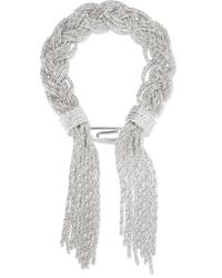 Aurelie Bidermann | Metallic Miki Braided Silver-plated Bracelet | Lyst