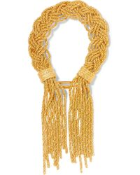 Aurelie Bidermann | Metallic Miki Gold-plated Bracelet | Lyst