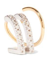 Maria Black - Metallic Bess Blanc Twirl 18-karat Gold, Rhodium-plated And Diamond Earring - Lyst