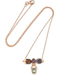 Daniela Villegas - Metallic Selby 18-karat Gold Multi-stone Necklace - Lyst
