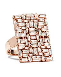 Suzanne Kalan - Multicolor 18-karat Rose Gold Diamond Ring - Lyst