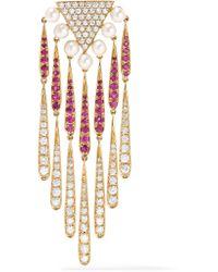 Yvonne Léon | Metallic 18-karat Gold Multi-stone Earring | Lyst