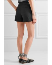 J.Crew - Black Ruffled Cotton-blend Shorts - Lyst