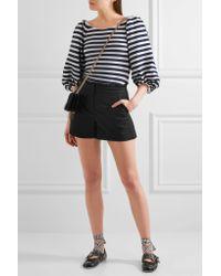 J.Crew - Black Ruffled Cotton-blend Shorts - Lyst