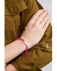 Aurelie Bidermann - Multicolor Sioux Gold-plated, Stone And Tassel Bracelet - Lyst