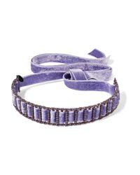Erickson Beamon - Purple American Graffiti Velvet Swarovski Crystal Choker - Lyst