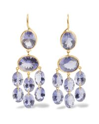 Marie-hélène De Taillac | Metallic Chandelier 22-karat Gold Iolite Earrings | Lyst