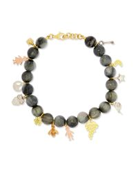 Carolina Bucci | Gray Recharmed Lucky 18-karat Yellow, Rose And White Gold And Agate Bracelet | Lyst