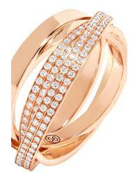 Repossi - Metallic Technical Berbère 18-karat Rose Gold Diamond Ring - Lyst