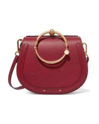 Chloé | Red Nile Bracelet Medium Leather And Suede Shoulder Bag | Lyst