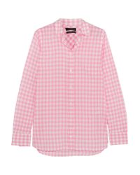 J.Crew - Pink Boy Gingham Crinkled-cotton Shirt - Lyst