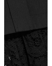 Sacai - Black Lace-paneled Poplin Shirt - Lyst