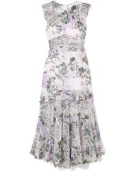 Alice McCALL - Gray Oh So Lovely Printed Mesh Maxi Dress - Lyst