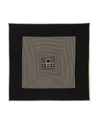 Totême  - Black Venezia Printed Silk Crepe De Chine Scarf - Lyst