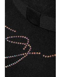 Eugenia Kim - Black Honey Crystal-embellished Wool-felt Hat - Lyst