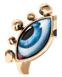 Lito | Metallic Tu Es Partout 14-karat Gold, Enamel And Diamond Ring | Lyst