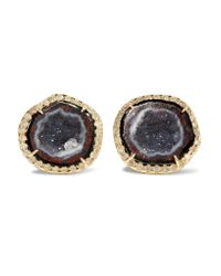 Kimberly Mcdonald | Metallic 18-karat Gold, Geode And Diamond Earrings | Lyst